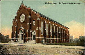 St. Rose Gothic Revival Church in Chelsea, MA