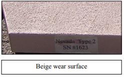 Beige wear surface