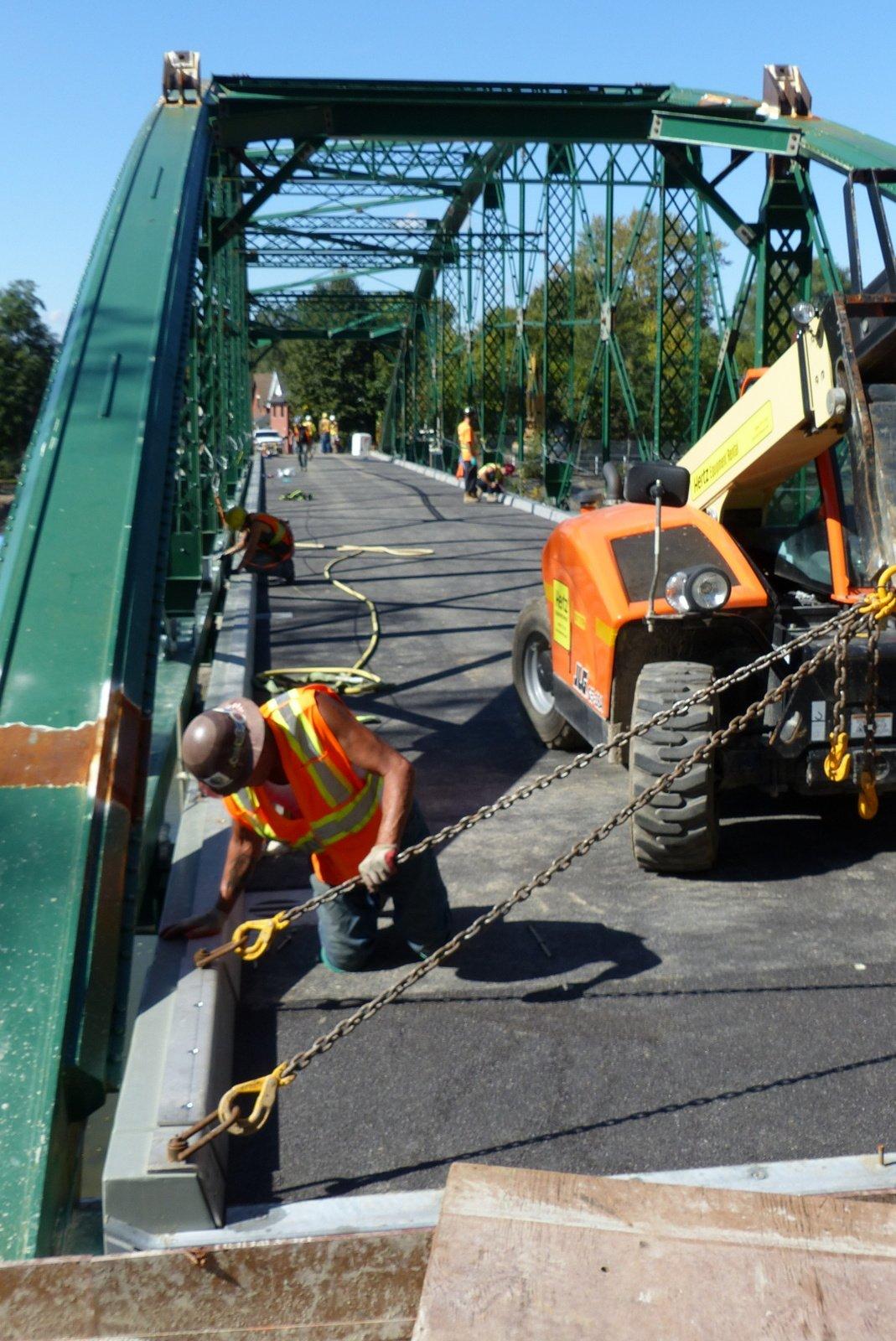 FRP being installed on bridge