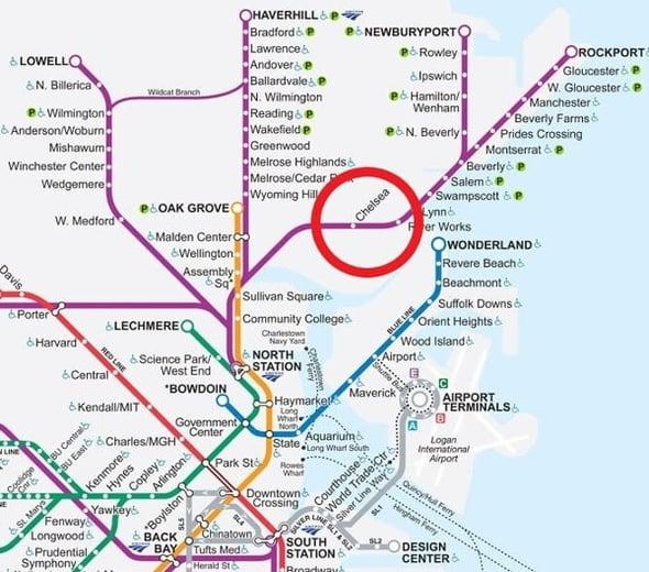 Boston Firsts Commuter Rail Map
