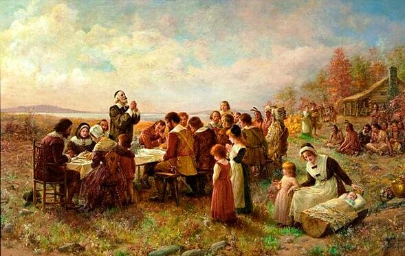 first thanksgiving at plymouth