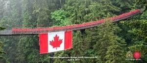 Canadian Flag on Bridge