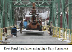Deck Panel Installation using Light Duty Equipment