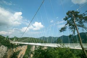 Glass Bridge in Zhangjiajie China