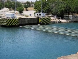 Greece Corinth Canal submersible bridge 02