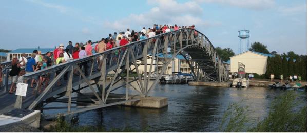 Historic Resort Bridge Restored