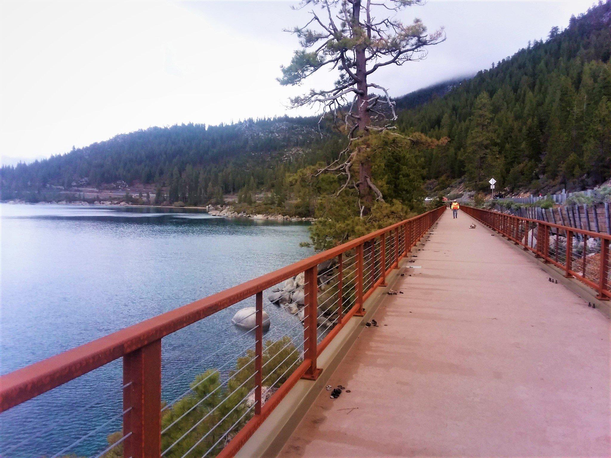 Lake Tahoe FRP Bridge project - finished