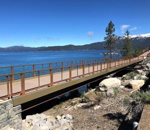 Lake Tahoe FRP bridge project - rocky terrain