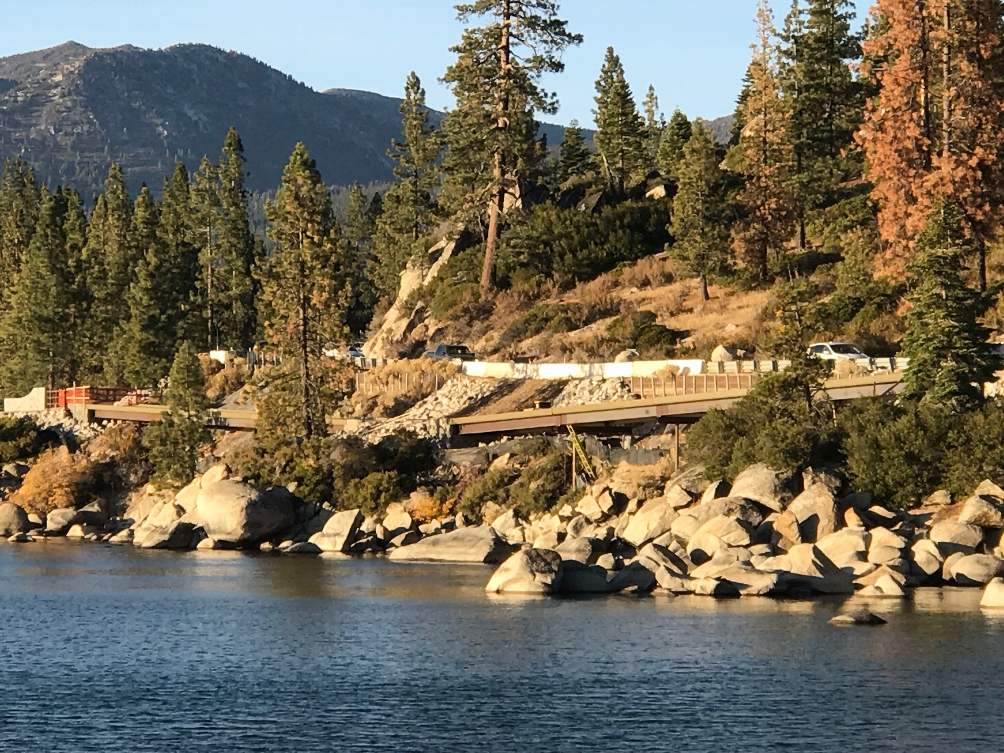 Tahoe path from across lake