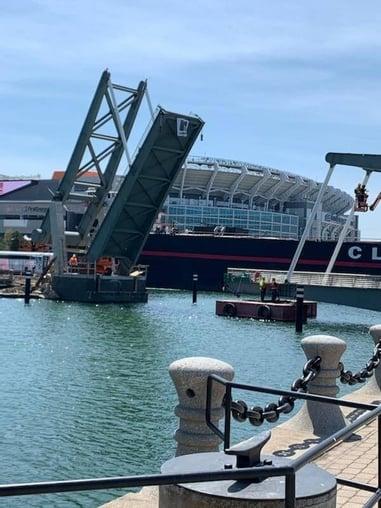 North Coast Harbor bridge open