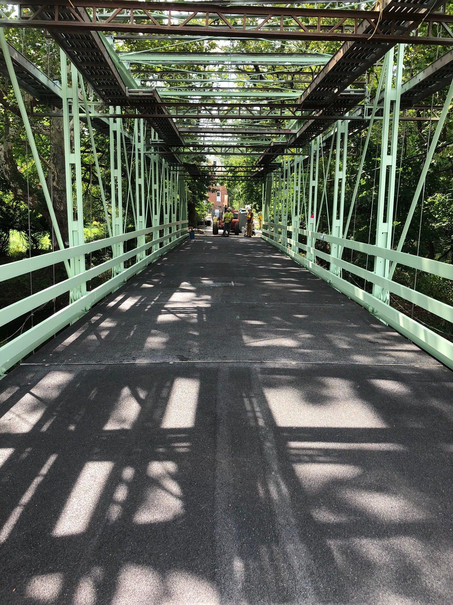 Peevy Road Bridge with FRP panels