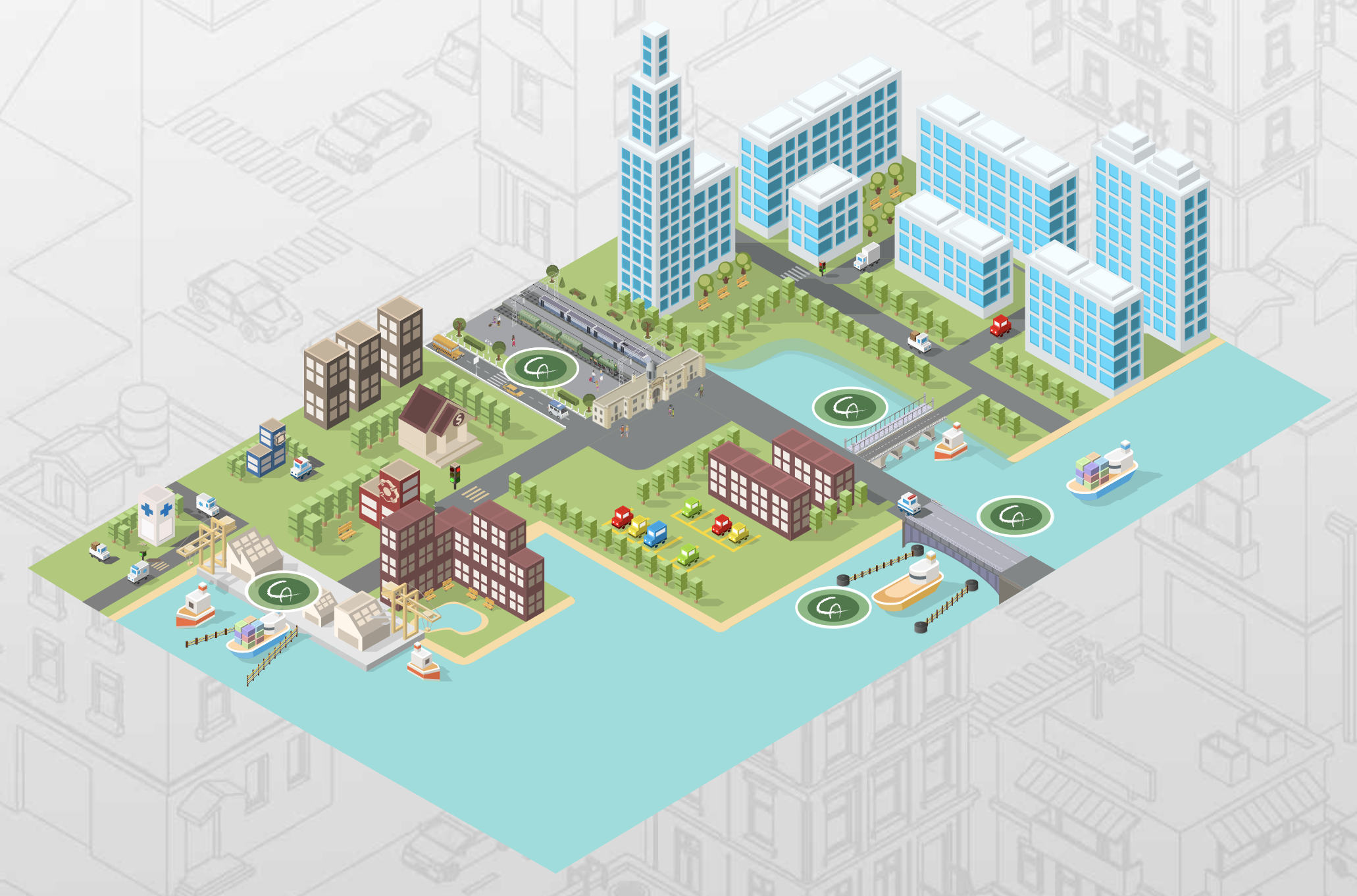 Urban City Model with FRP uses
