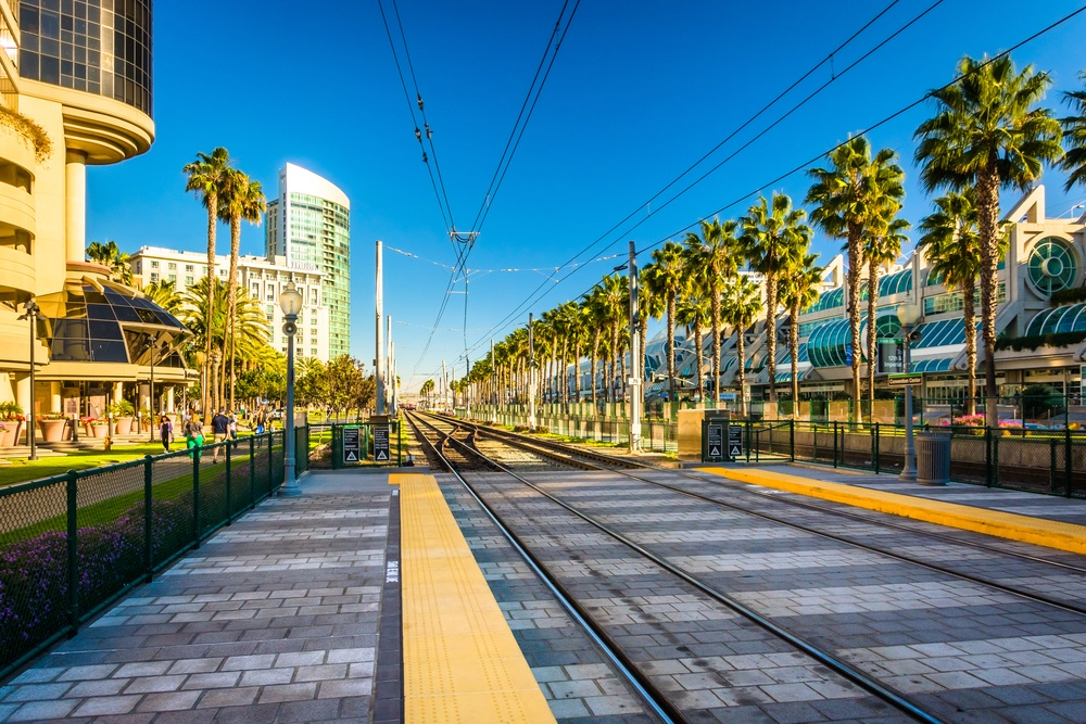 Railroad tracks near the Convention Center, in San Diego, California..jpeg