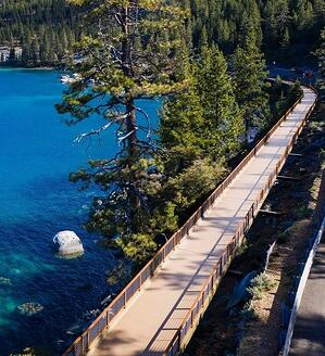 Lake Tahoe pedestrian bridge