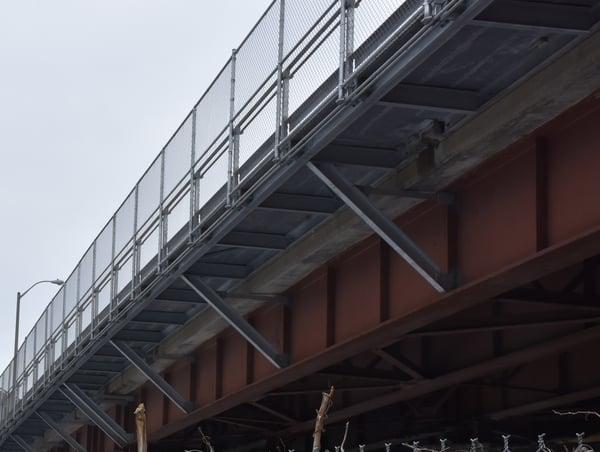 Underside of FRP Cantilever Bridge