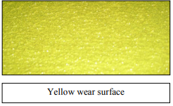 Yellow wear surface