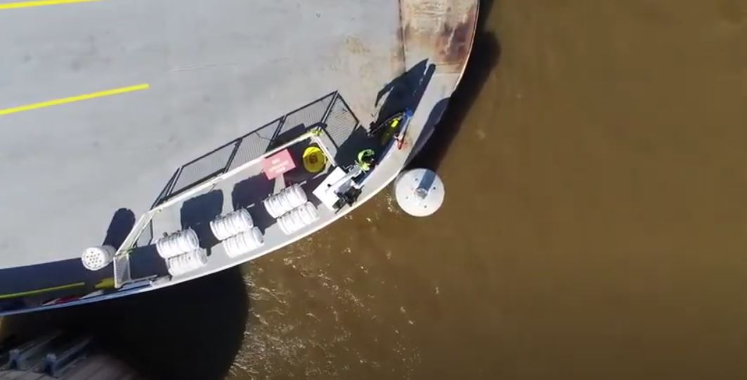 ferry colliding with structural FRP dolphin