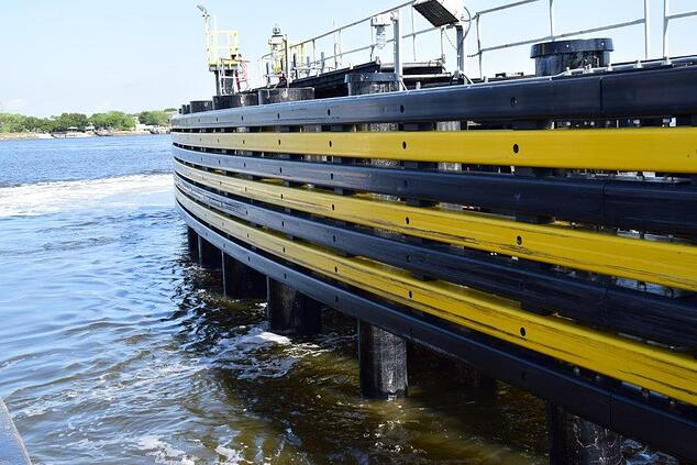 FRP Fenders on a big ferry