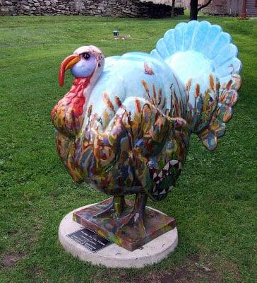 Fiberglass Turkey seen in CT