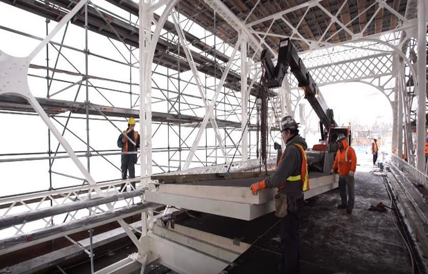 Fiberglass reinforcement on Minto Bridge