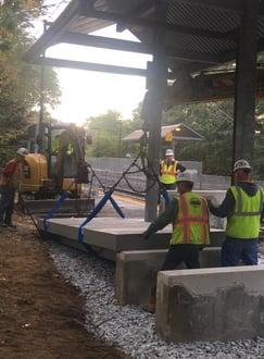 rail platform installation