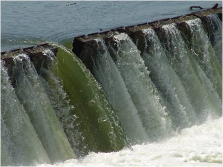 Control water flow at dams