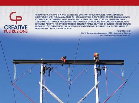 FRP Transmission Innovations - High Voltage Polyurethane Transmission Arm