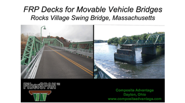 FRP Decks for Movable Vehicle Bridges