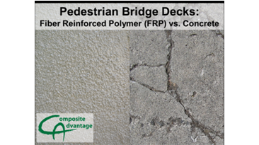 Pedestrian Bridge Decks: FRP v. Concrete