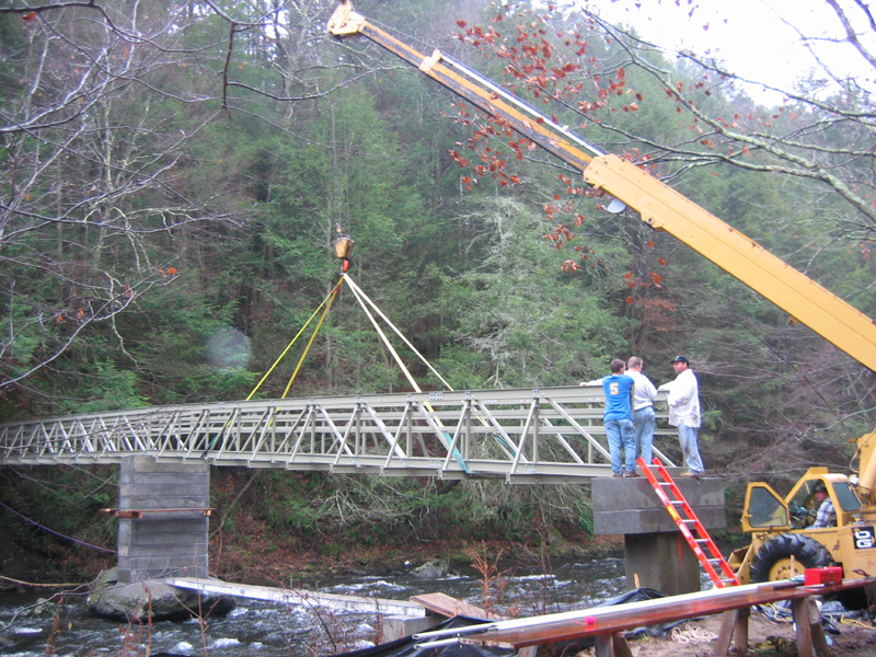 Scaffolding Allows FRP Bridge to be Constructed