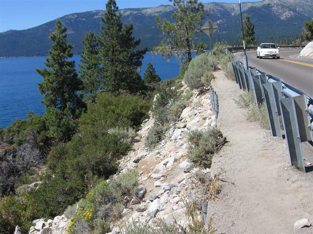 Lake Tahoe SR28 Bridge-Sidewalk Location