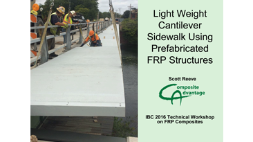 Lightweight Cantilever Sidewalk Using Prefabricated FRP Structures