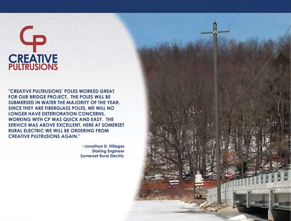 Somerset Rural Electric Coop - FRP Utility Poles