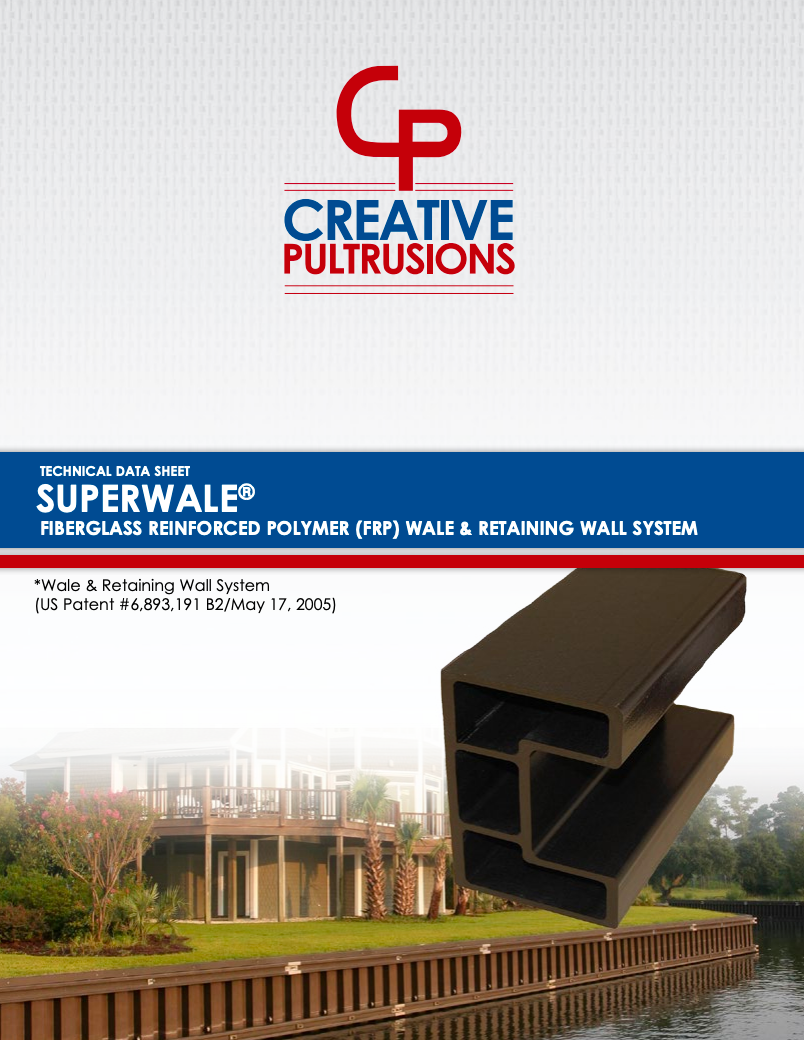 SuperWale® Retaining Wall Data Sheet