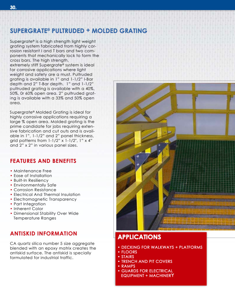 Supergrate® Pultruded and Molded Grating Products General Information