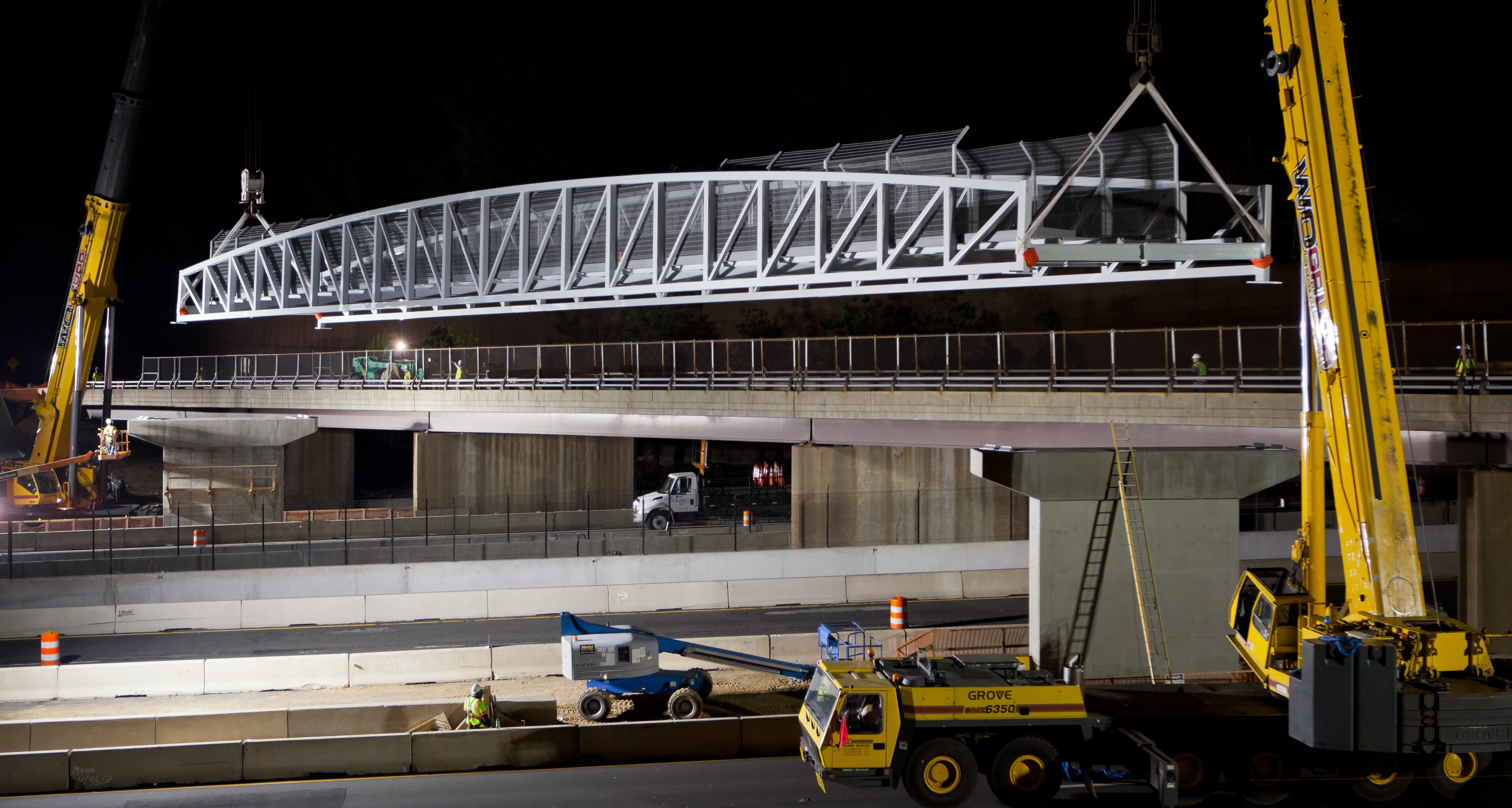Fast Installation of Prefabricated FRP Structures in High Traffic Locations