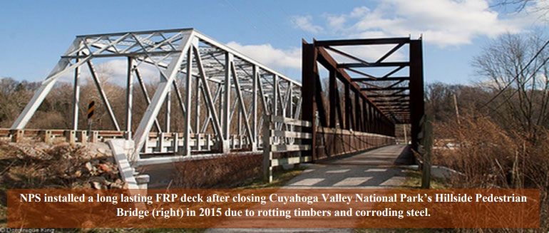 Cuyahoga Valley National Park's Hillside Pedestrian Bridge