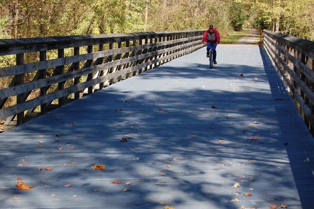 Rails to Trails Bicyclist