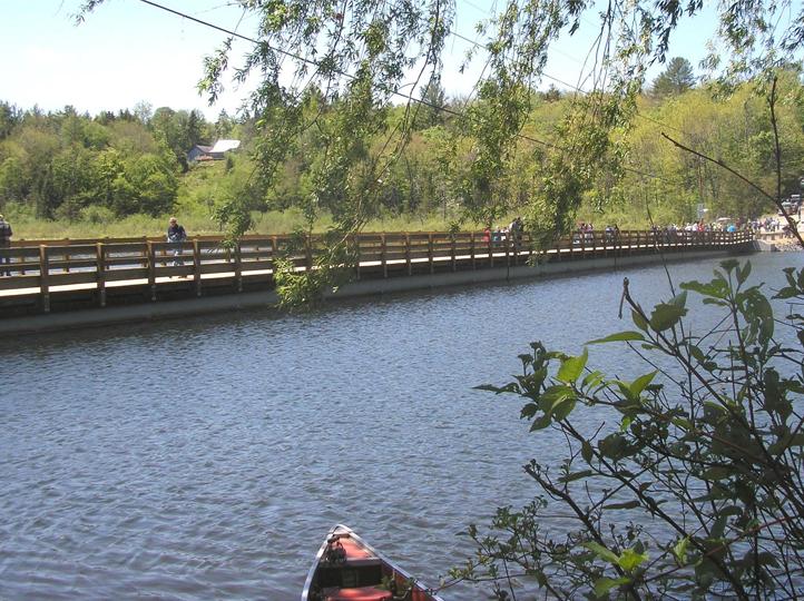 Sunset Lake Floating Bridge