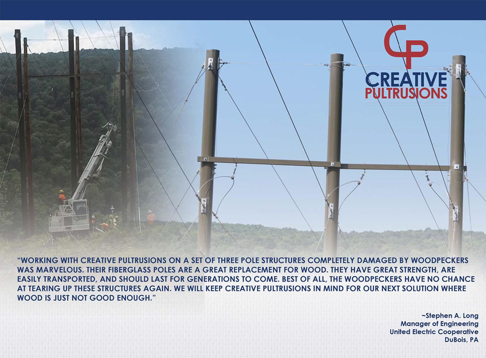 United Electric Cooperative Pultruded Fiberglass Utility Poles